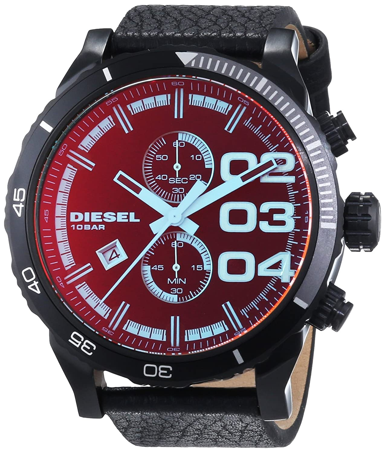 Amazon.com: Diesel Mens DZ4311 Double Down Series Analog Display Quartz Black Watch: Diesel: Watches