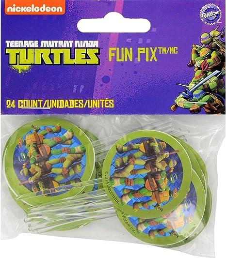 Amazon.com: Wilton 2113 – 7744 24 Count Teenage Mutant Ninja ...