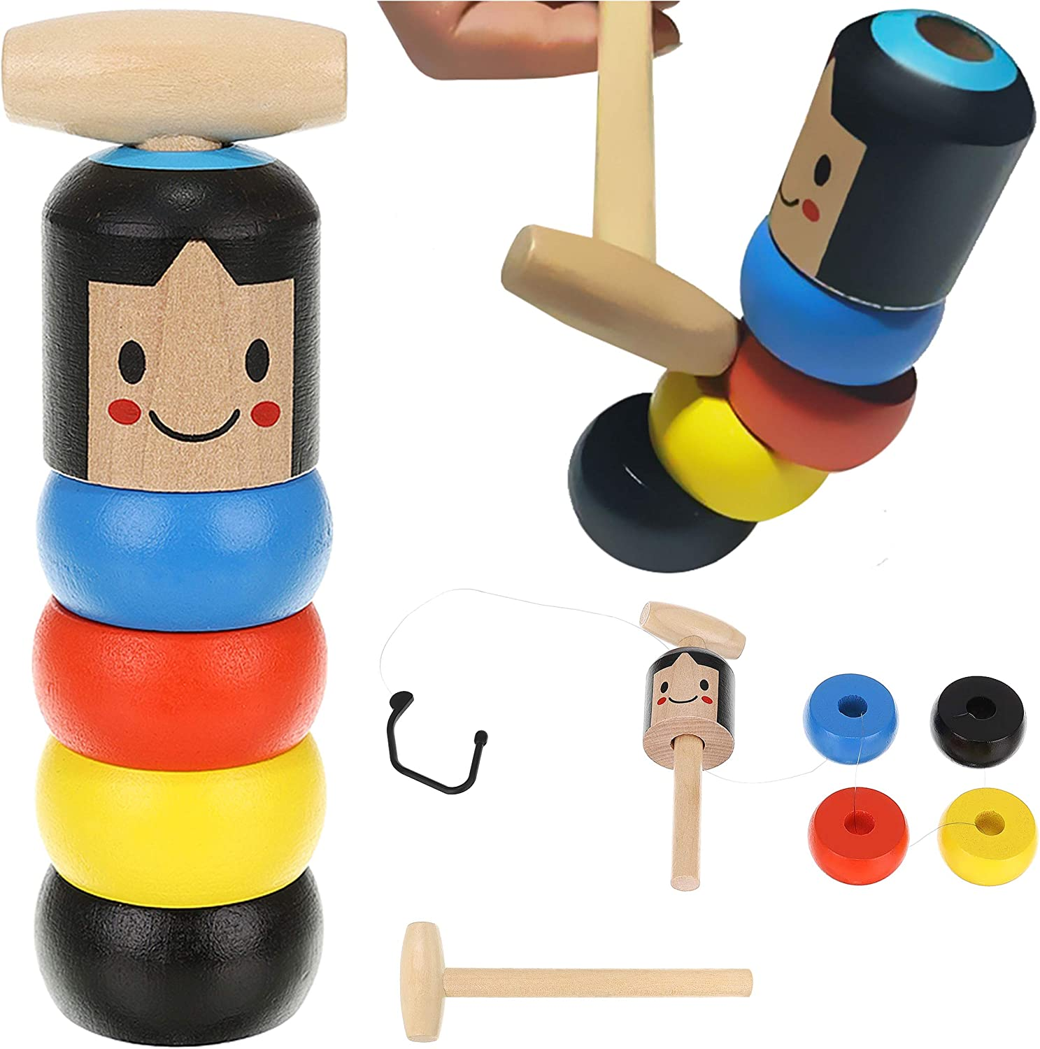 ISO TRADE Unbreakable Wooden man Wooden Toys funny wooden toys for children and adults 9991