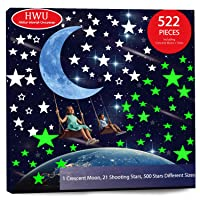 HELLO WORLD 522pcs Glow in The Dark Stars Wall Stickers for Ceiling Adhesive Bright...