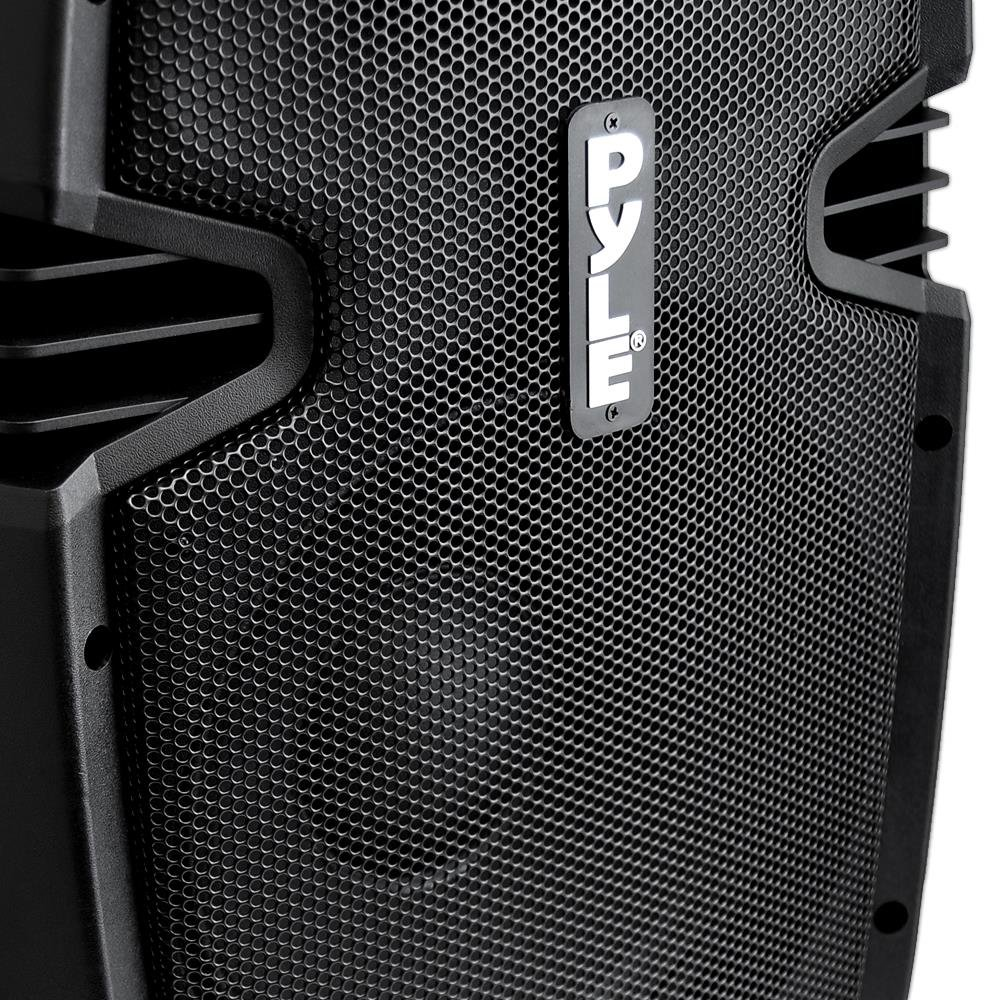 Pyle Pphp837ub Powered Active Pa System Loudspeaker Baby Boomer 600w Dual 8quot Subwoofer Electronicswoot Bluetooth With Microphone 8 Inch Bass Stage Speaker Monitor Built In Usb For Mp3
