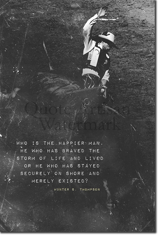 Hunter Thompson Poster 13x19 Fine Art Canvas Black and White Print