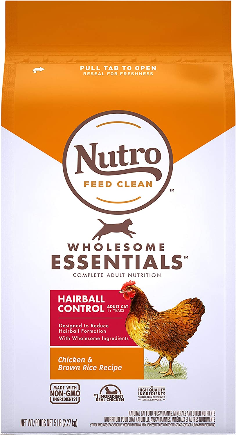 Nutro Wholesome Essentials Hairball Control Adult Dry Cat Food, Chicken