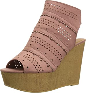 9de02328ab5af Amazon.com | Qupid Women's Knox-01xx Wedge Sandal | Platforms & Wedges