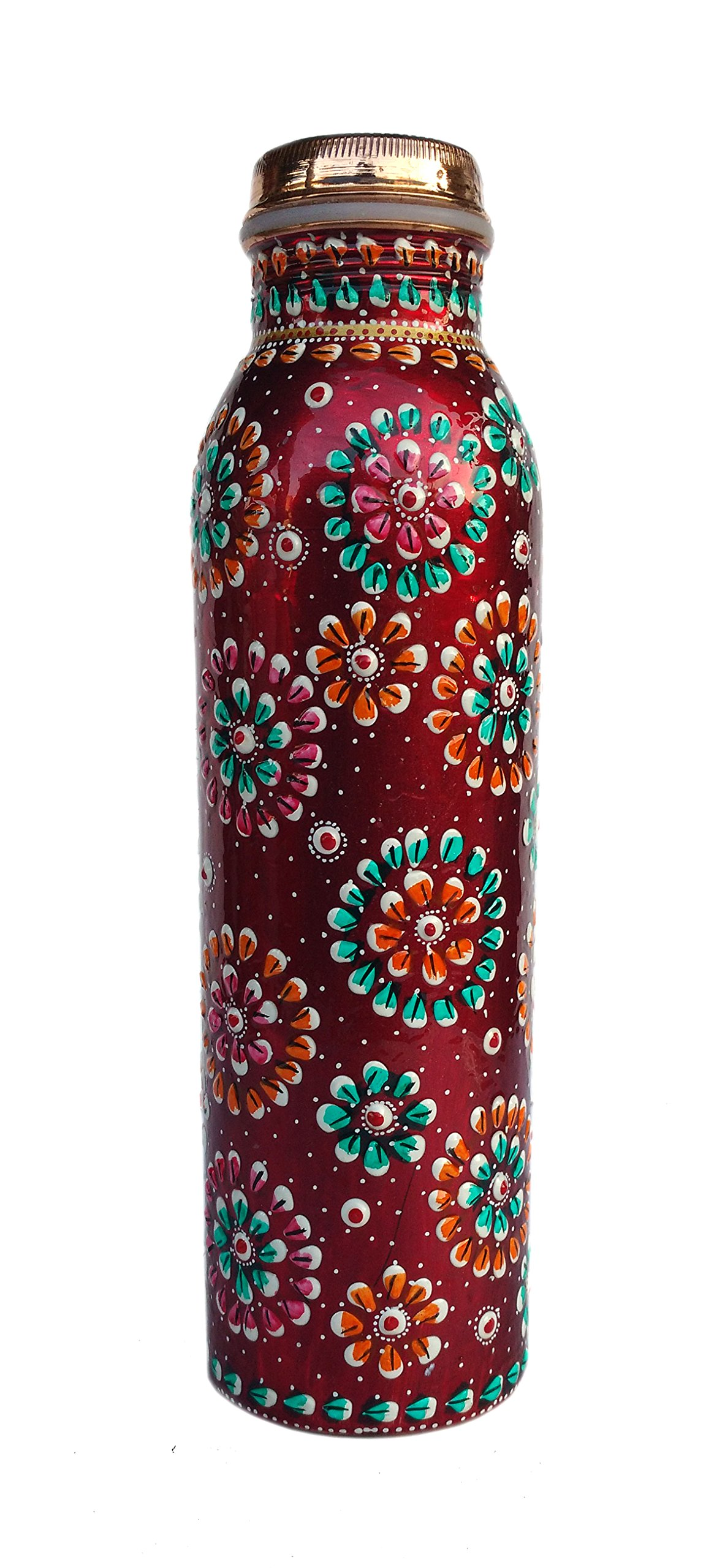 Rastogi Handicrafts Copper Joint less leak-proof Water storage Bottle for Health Benefit Set of 4 With One Insulated Bag (FREE) by Rastogi Handicrafts (Image #4)