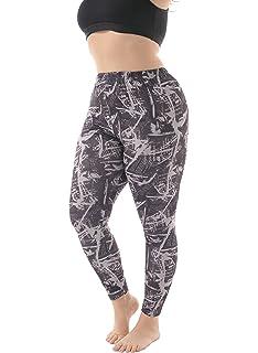 b9670b07f9c65e ZERDOCEAN Women's Plus Size Lightweight Printed Full Length Leggings for  Summer