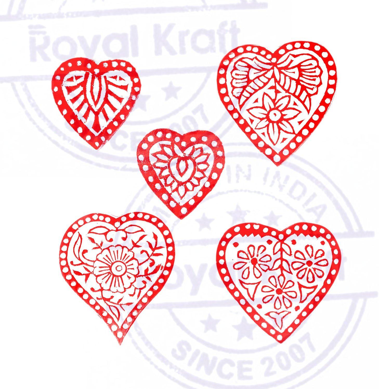 Set von 5 Royal Kraft Designer Designs Finger und Damast Holz Bl/öcke Drucken Stempel