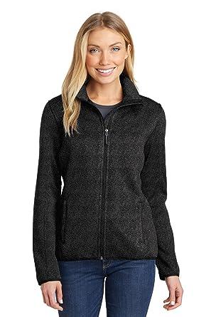 0d374f817 Port Authority Women s Sweater Fleece Jacket at Amazon Women s Coats ...