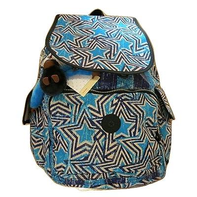 Kipling Ravier Backpack Blue America Pop Print Backpack chic