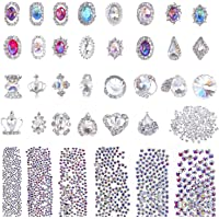 Selizo 3168pcs Rhinestones Nail Crystals Rhinestones with 30pcs Nail Metal Gems Jewels Stones for 3D Nails Art…