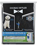 dogbag BUTLER Pet Dog Waste Bag, Black with Black