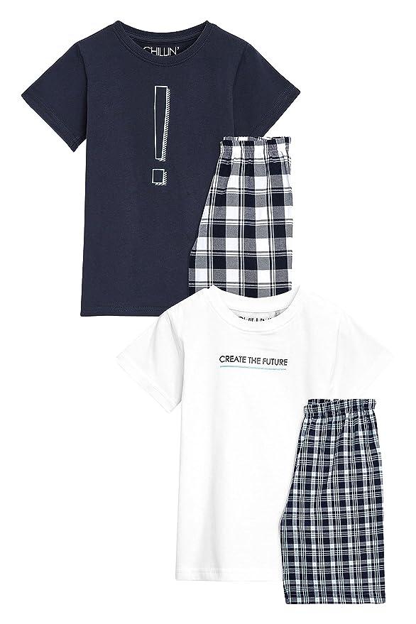 next Niños Pack De Dos Pijamas con Tejido De Cuadros (5-16 Años) Monocromo 16 años: Amazon.es: Ropa y accesorios