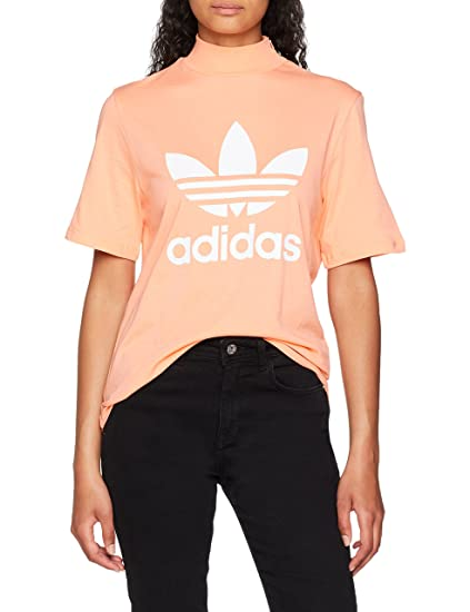 7832b66884c5 adidas Originals T-Shirt Pharrell Williams Logo Rose Femme  Amazon ...