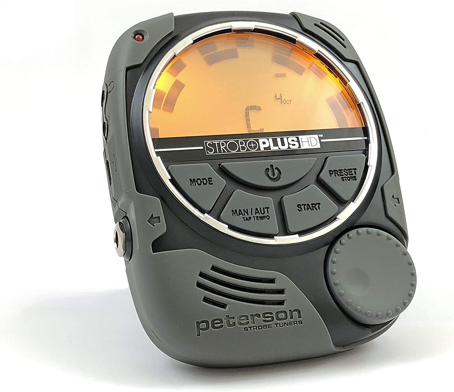 Peterson StroboPlus HD Desktop Strobe Tuner   Guitar, Bass, Violin, Ukulele, Harp, Brass, Woodwind, Orchestral, Pedal and Steel Guitar   Tuner Choice of Luthiers, Technicians, Builders, Manufacturers