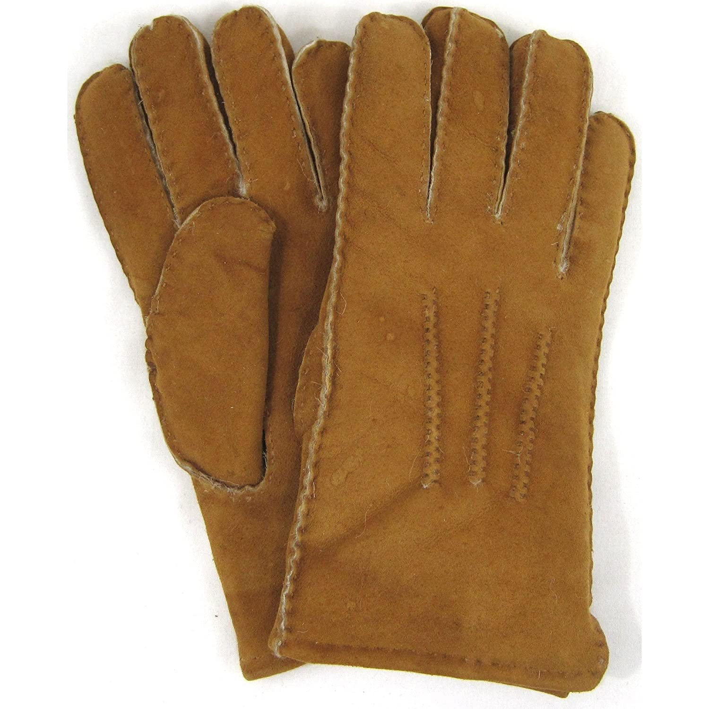 Mens sheepskin gloves uk - Mens Luxury Full Sheepskin Gloves Tan Size Small Amazon Co Uk Clothing