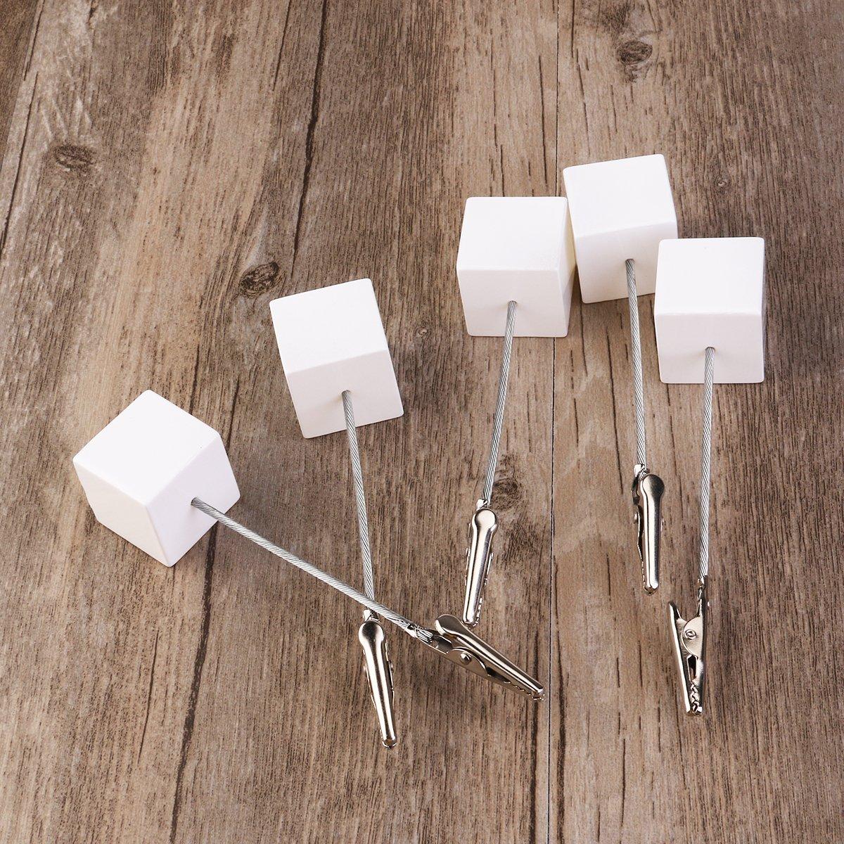bianco WINOMO cubo base Memo Clip porta foto//Cartoline carta colpa/ /Parigamba 10pcs