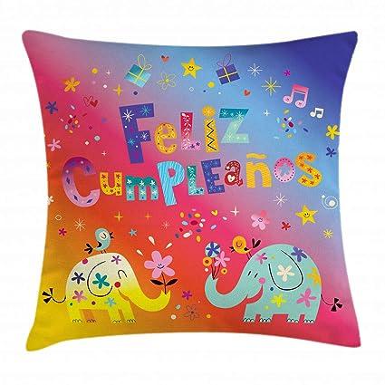 Amazon.com: Ambesonne Spanish Throw Pillow Cushion Cover ...