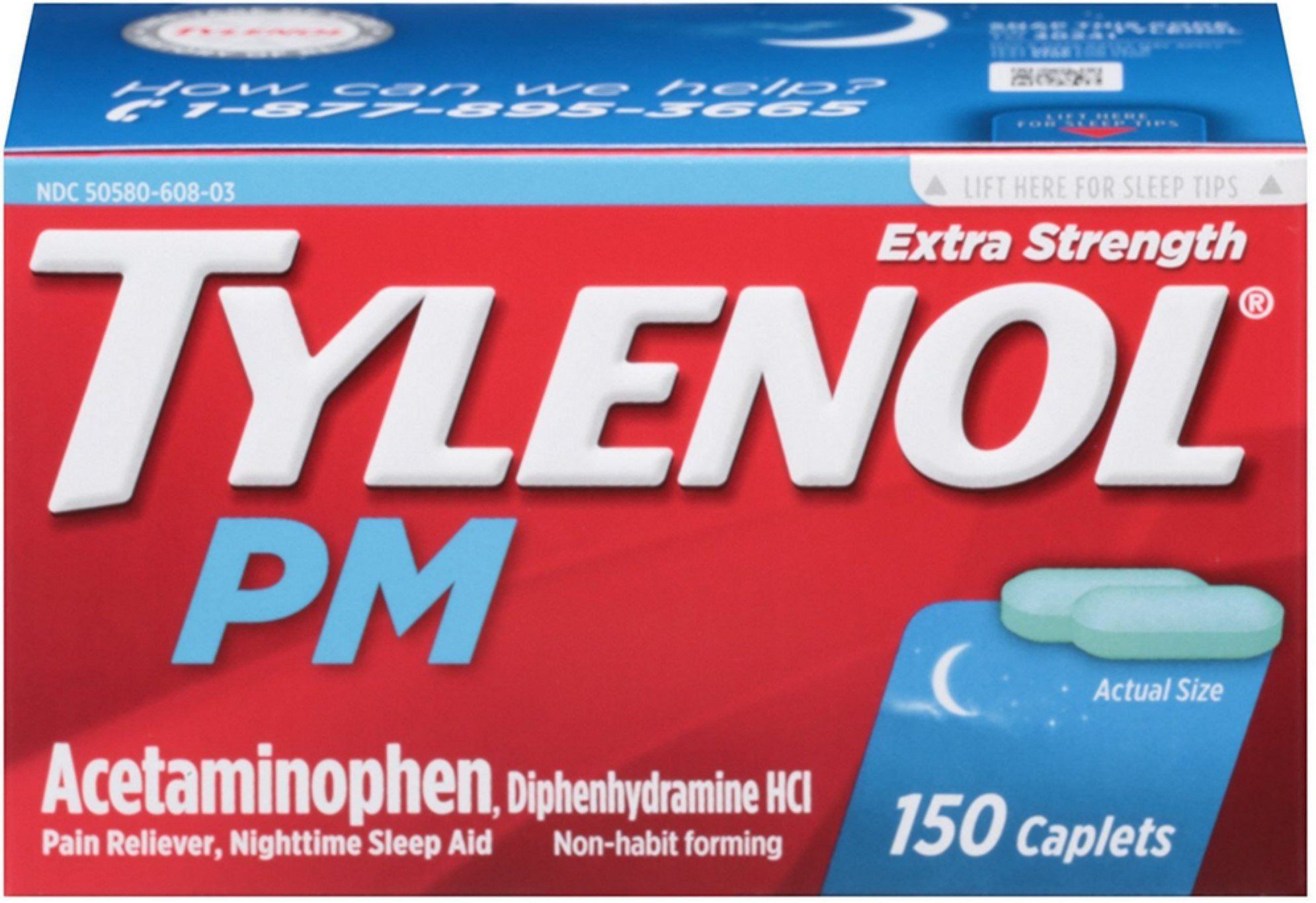 TYLENOL PM Extra Strength Caplets 150 ea (10 Pack)