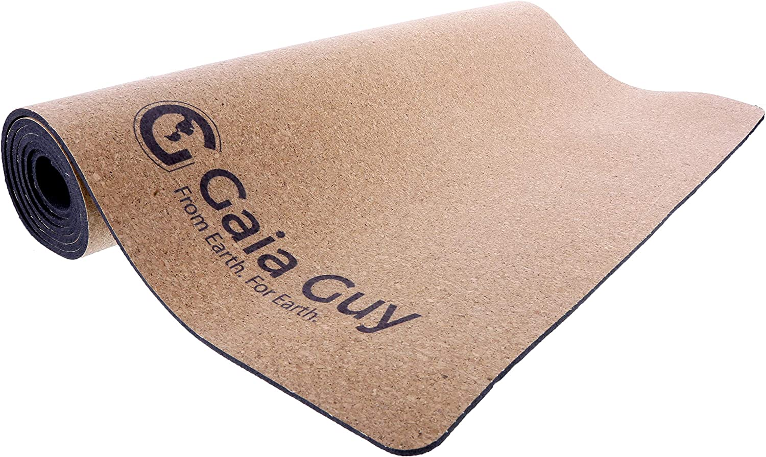 Gaia Guy Natural Cork and Natural Rubber Yoga Mat, 72
