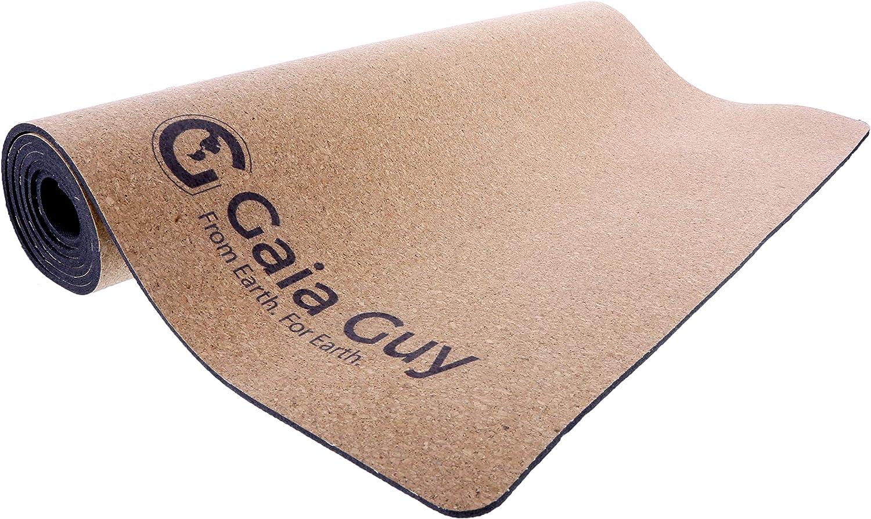 Gaia Guy Natural Cork and Natural Rubber Yoga Mat, 72