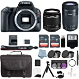 Canon EOS Rebel SL2 Bundle With Canon EF-S 18-55mm IS STM & EF-S 55-250mm IS STM Lens + Canon SL2 Camera Advanced Accessory Kit - Canon SL2 Bundle Includes EVERYTHING You Need To Get Started