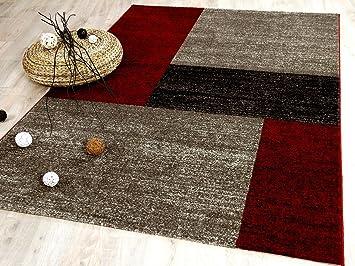 Tango - Tapis de designer - tendance - rouge brun marron - 6 tailles ...