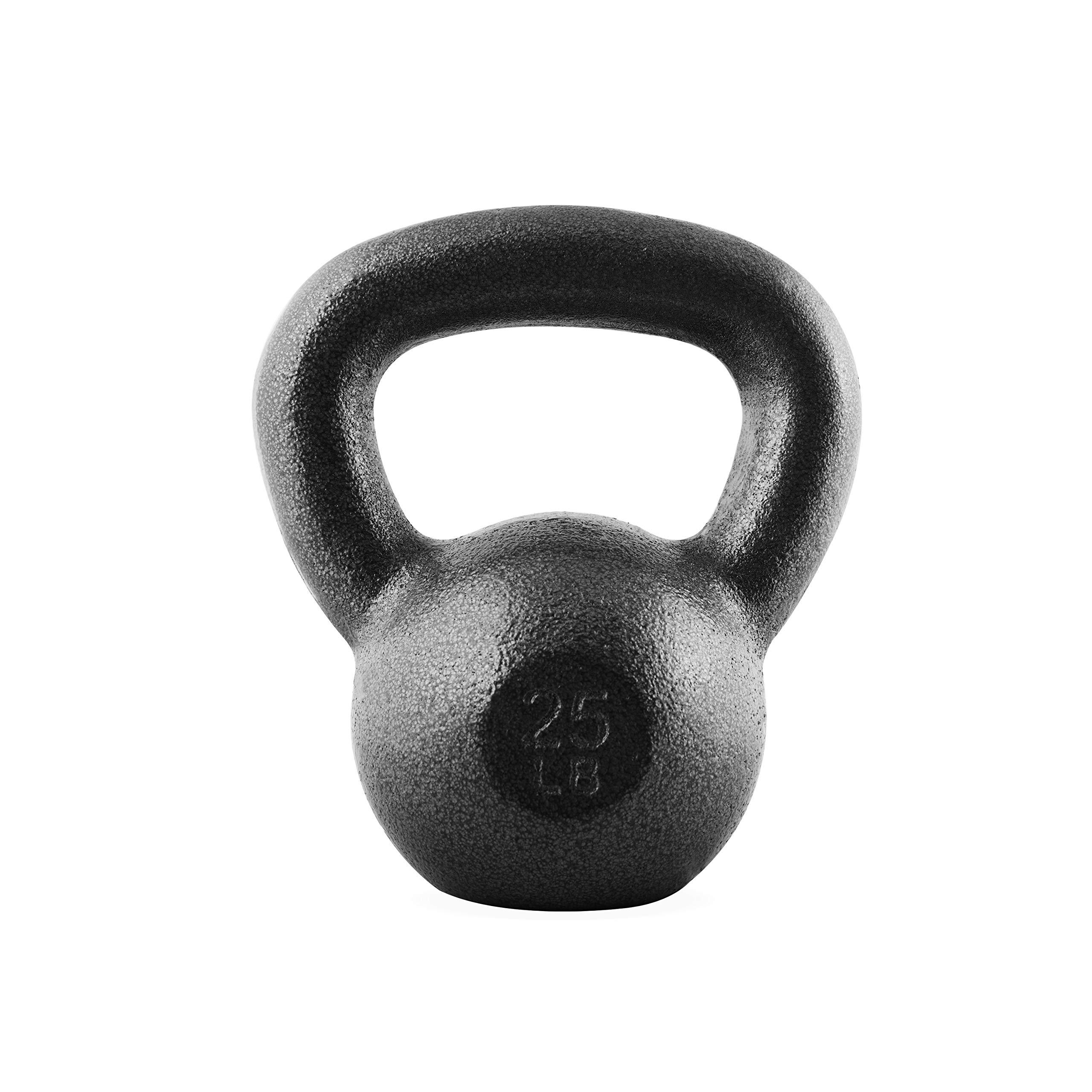 CAP Barbell SDK2B-025 Cast Iron Kettlebell, 25 lb, Black