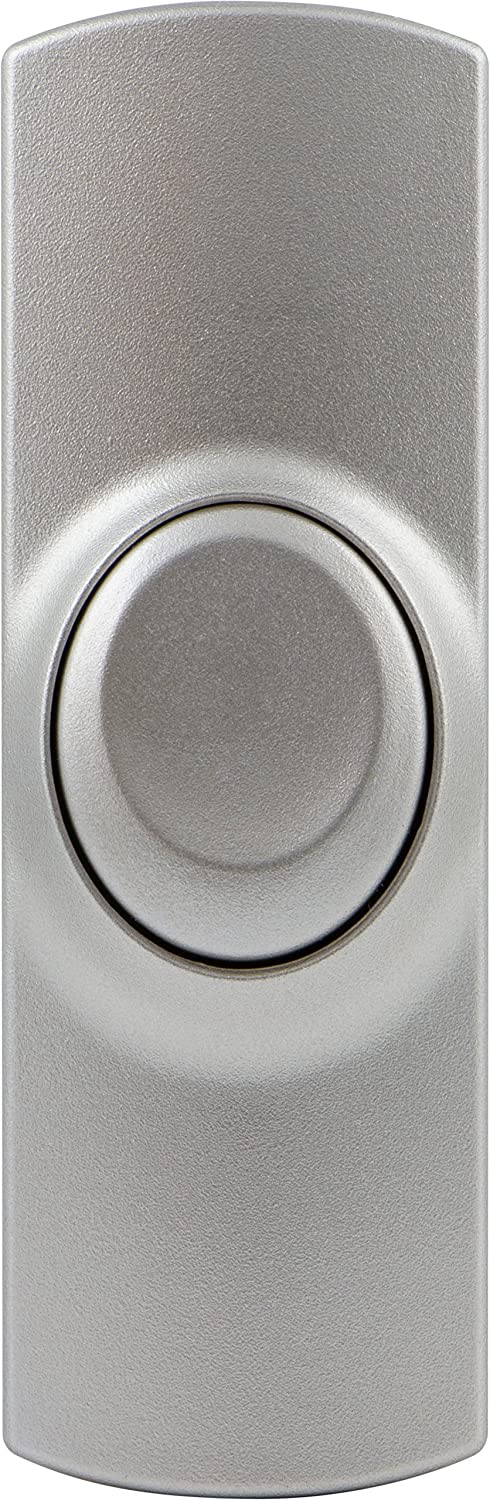 GE 19301 Wireless Push Button to Replace Doorbell Button, Brushed Nickel