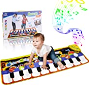 RenFox Kids Musical Mats, Music Piano Keyboard Dance Floor Mat Carpet Animal Blanket Touch Playmat Early Education Toys for