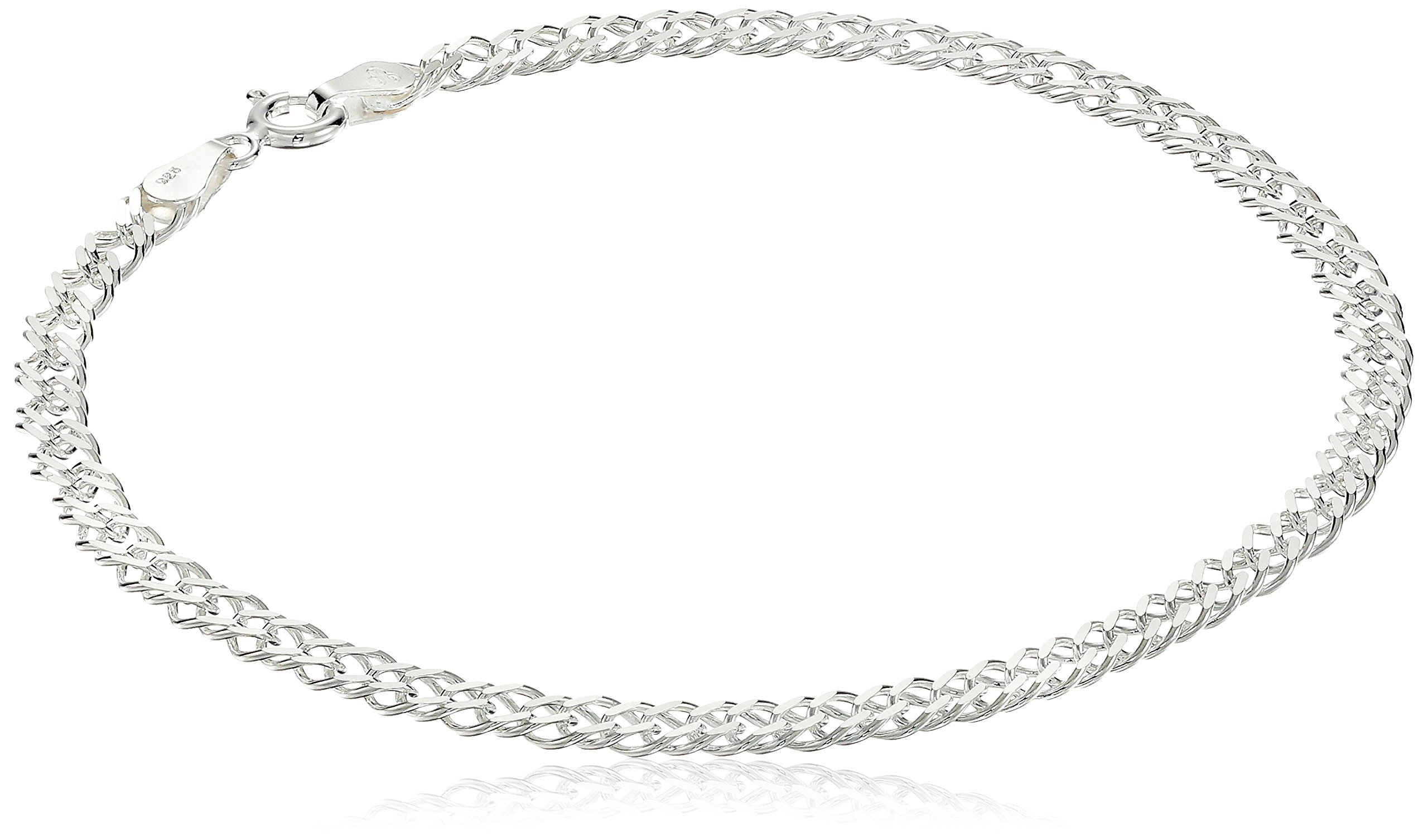 Sterling-Silver-Interlocking-Geometric-Link-Bracelet