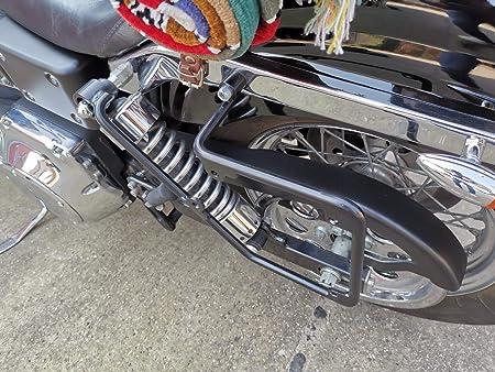 Halterung Links Satteltasche Dyna Seitentasche Hd 1996 2017 Modelle Neu Orletanos Harley Davidson Streetbob Fat Bob Wide Glide Stahl Pulverbeschichtet Auto