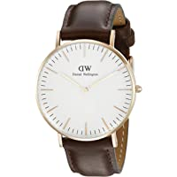 Daniel Wellington - 0508DW - Sheffield - Montre Mixte - Quartz Analogique - Bracelet Cuir