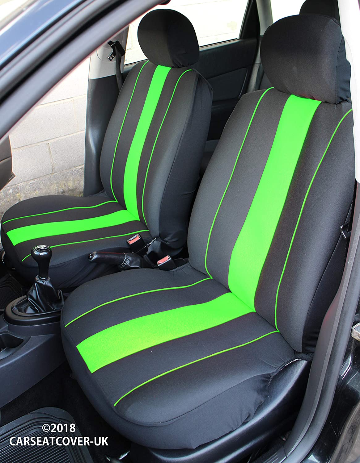 Carseatcover-UK/® Front Pair of SPEEDSTER Blue FABRIC Car Van Seat Covers