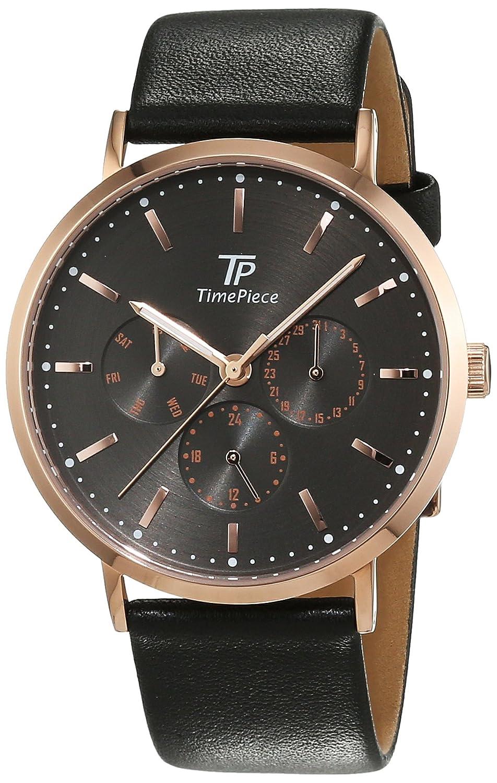 Time Piece Herren-Armbanduhr Classic Analog Quarz Leder TPGS-32414-51L