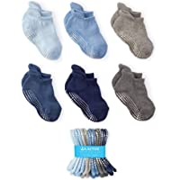LA Active Grip Ankle Socks - Baby Toddler Infant Newborn Kids Boys Girls Non Slip/Anti Skid