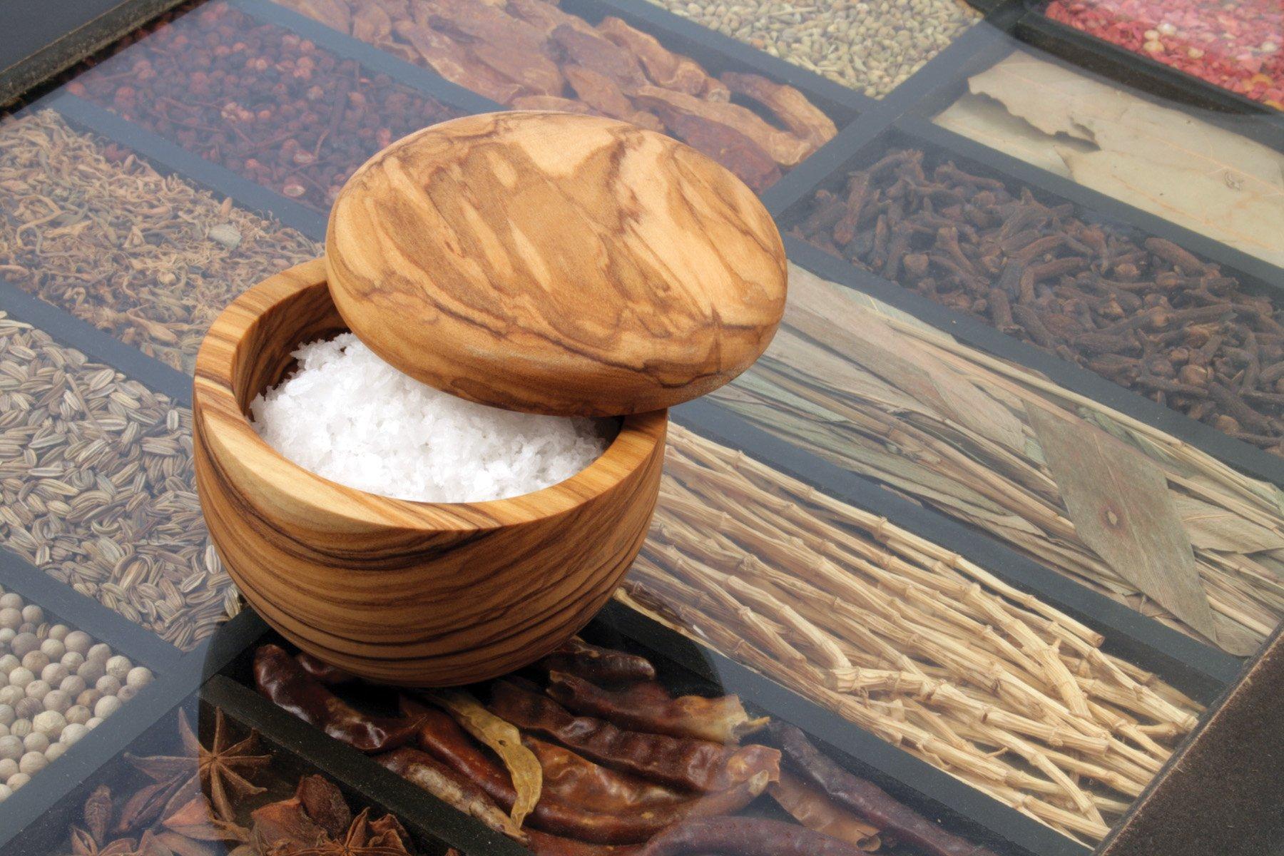 Swissmar Napoli Salt Keeper with Removable Lid, Olive Wood by Swissmar (Image #3)