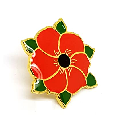 Poppy flower green leaves poppy remembrance day premium quality poppy flower green leaves poppy remembrance day premium quality metal badge lapel brooch novelty collectable gift mightylinksfo