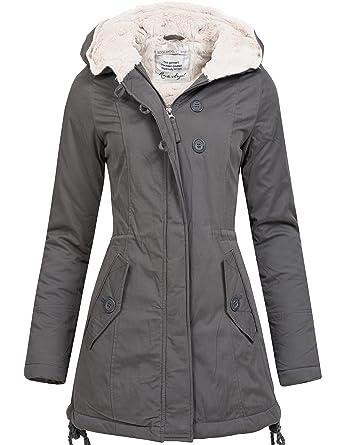 Winterjacke   Wintermantel   Baumwoll-Jacke für Damen von Sublevel -  eleganter Kurz-Mantel ab5edf44a4