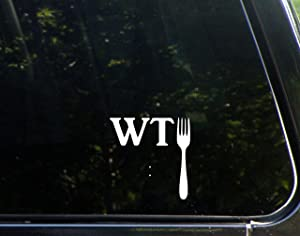 "Sweet Tea Decals What The Fork - 3 3/4""x 4"" - Vinyl Die Cut Decal/Bumper Sticker for Windows, Trucks, Cars, Laptops, Macbooks, Etc."