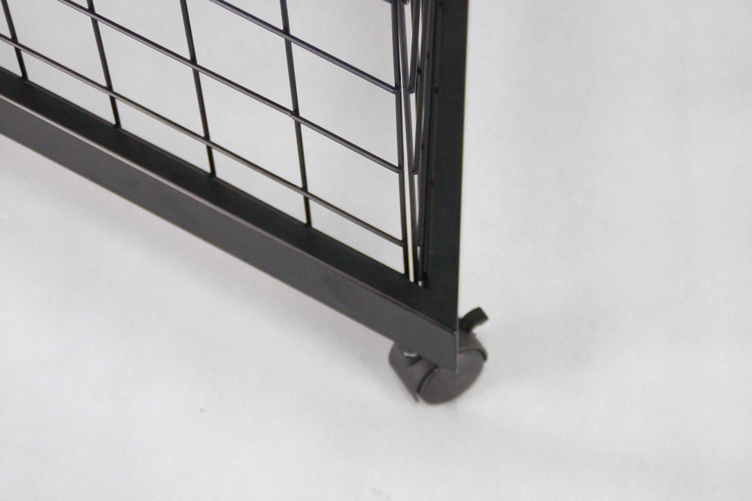 3-Sided Gridwall Fixtures Wheeled Bases, (12) Faceout Hooks-Black 19370
