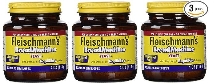 Fleischmann de levadura para pan máquinas, 4-Ounce tarros (3 ...