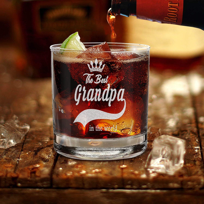 Shop4ever - Vaso de whisky grabado con el mejor abuelo en el mundo