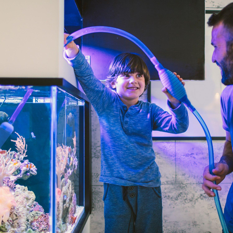 Aquarium Syphon Mulmsauger Aquarium Reiniger Kiesreiniger Wasserwechsler  Automatisch Wasseraufnahme Mit Pumpe Und Flusssteuerung Für Algen / Kies /  Schmutz ...