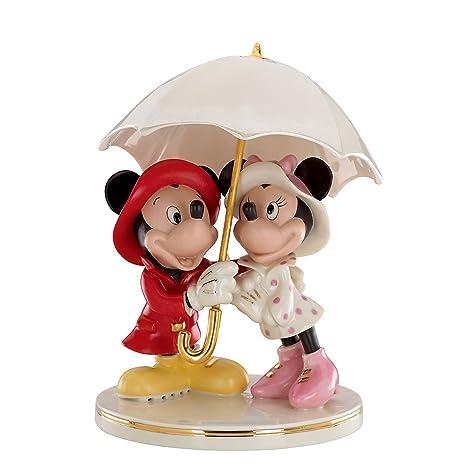 Amazon.com: Lenox Mickey and Minnie Singing in The Rain Figurine ...
