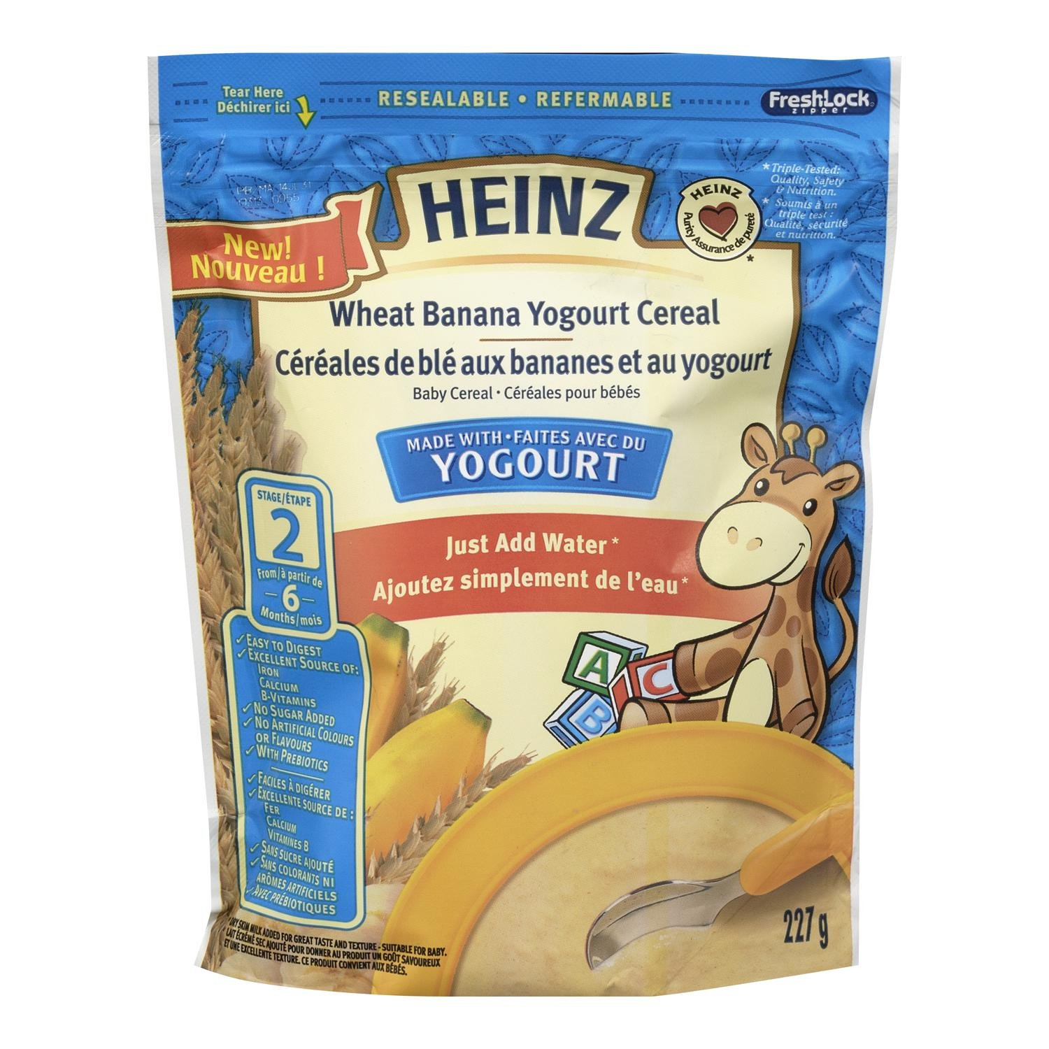 HEINZ Wheat Banana Yougourt Cereal, 6 Pack, 227g, 1 Count