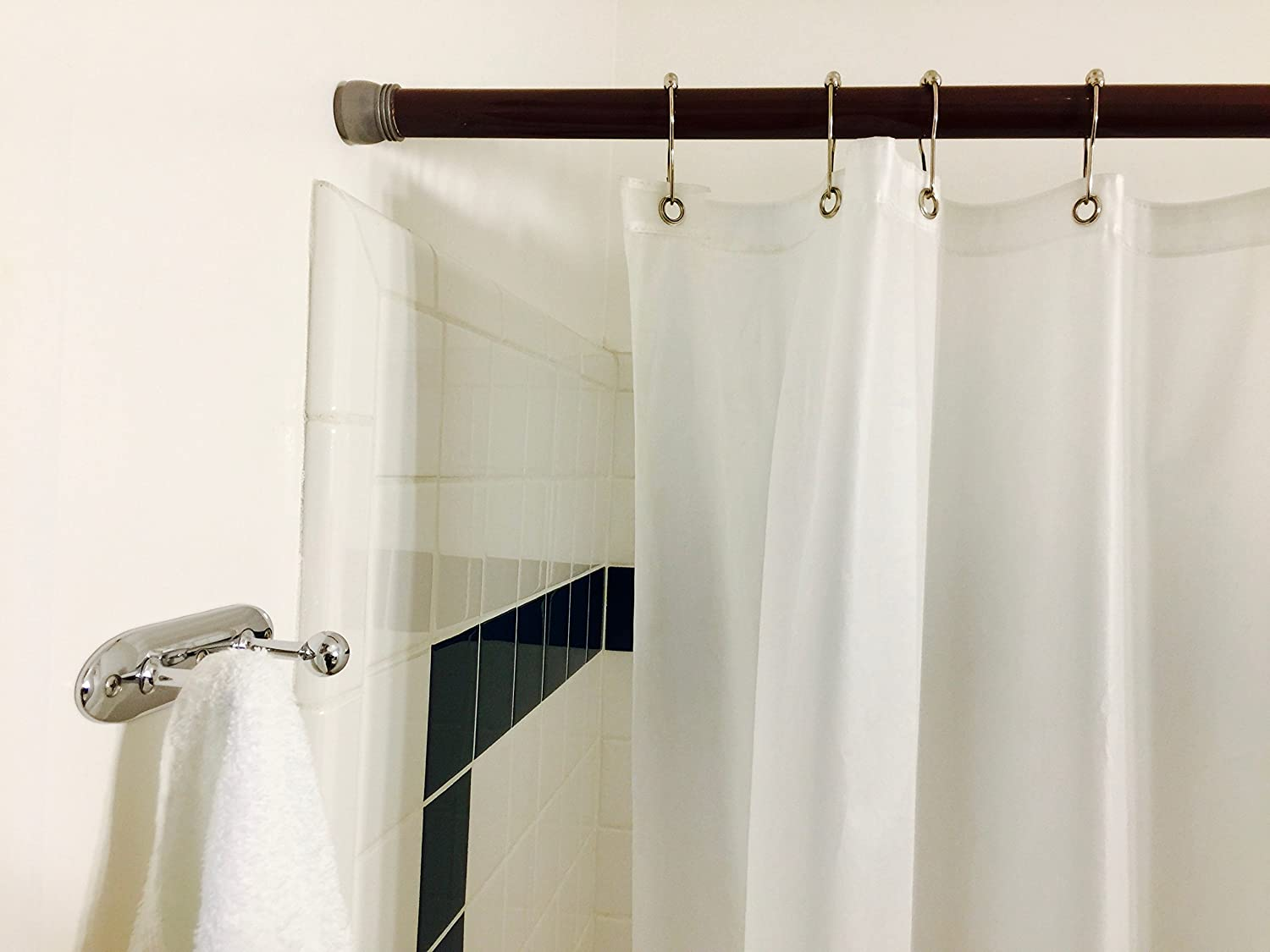 Shower Rod Cover by Jenacor | Rod Cover Rod Covers Plastic Tubing Rod Protective Cover Rod Cover Sleeve | White Plastic Shower Rod Cover 1 inch diameter x 59 inches long 2-Pack SAPIASRC