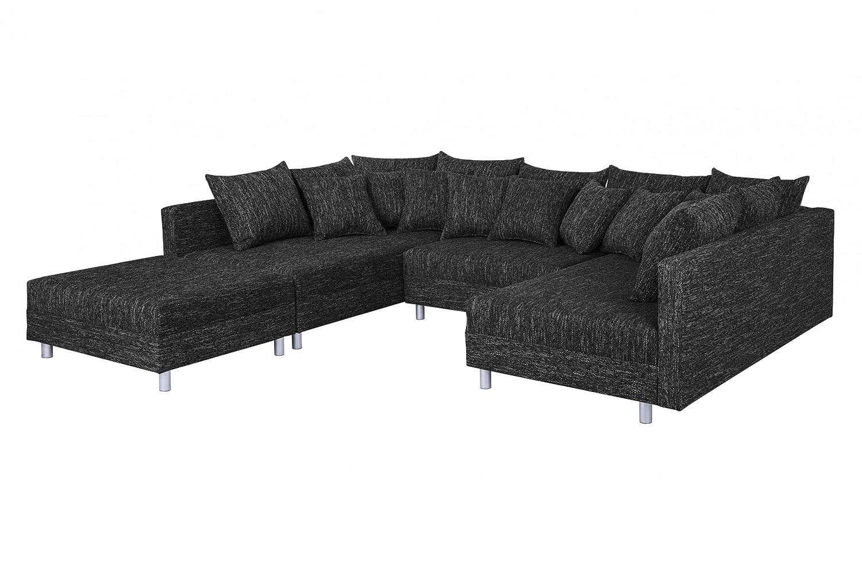 Außergewöhnlich Xxxl Wohnlandschaft Ideen Von Sofa Couch Ecksofa Eckcouch In Gewebestoff Schwarz