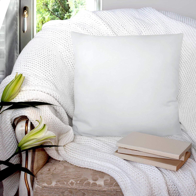 Utopia Bedding Set di 2 Cuscini Interno per Cuscini Cuscini Divano Imbottitura per Cuscini 40 x 40 cm Cuscino Copri Policotone