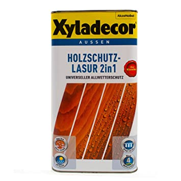 Xyladecor 2in1 Holzschutzlasur Grau 2 5l Holzschutz Lasur Holzlasur
