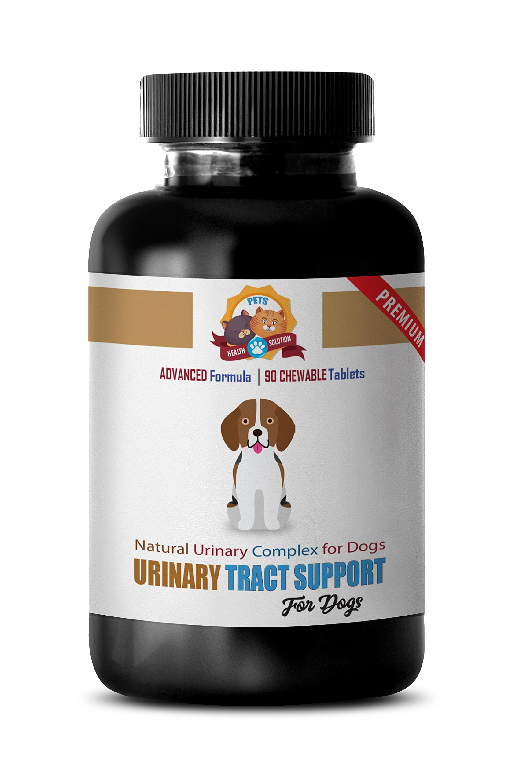 PETS HEALTH SOLUTION dog urinary health food - NATURAL URINARY TRACT SUPPORT - DOG TREATS - PREMIUM ADVANCED COMPLEX - dog marshmallow root - 90 Treats (1 Bottle)